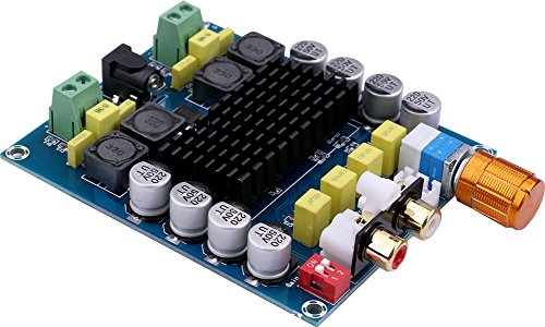 Yeeco 2x100W Dual Channel Digital Class D Audio Amplifier Board DC 14-32V 24V Stereo Power Amp Module for 4 6 8 Sound System Speaker Car Home Theater with Free-weld Power Connector