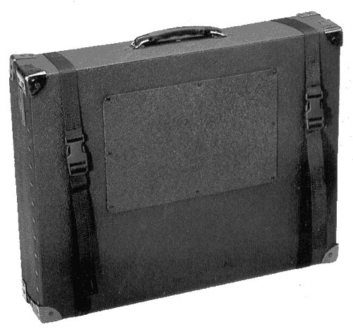 Cases By Source C16204-P-50 Thin Print and Graphics Carrying Case with Adjustable Nylon Straps, 16'' Length, 20'' Width, 4'' Height, Black