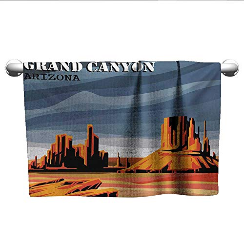 alisoso Canyon,Dish Towels Major Canyon Fantastic Shadows and Contrasts with Digital Added Dimesions Print 3D Digital Printing Blue Orange W 24