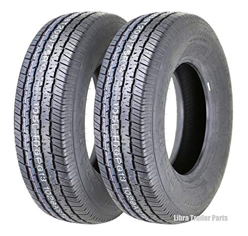 2 New Trailer Tires ST 205/75R14 8PR Load Rangd D
