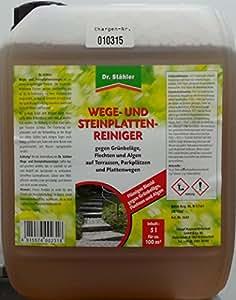 Dr. stähler limpiador de vías y placas de piedra 5l para 100m²