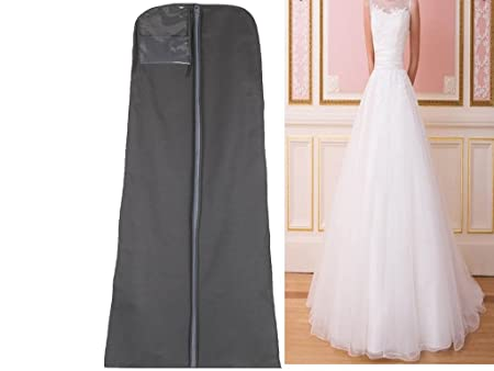 Hanging 72 Inch Breathable Wedding Bridal Prom Dress Garment Gown Clothes Cover Suit Protector PartyZip Bag