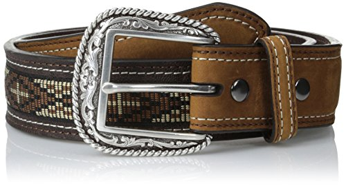 (Ariat Men's Cross Concho Ribbon, Brown, 42)