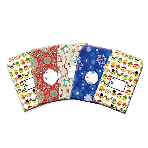 jillson-roberts-5-count-medium-christmas-tyvek-decorative-padded-mailers-in-assorted-designs-xmy004