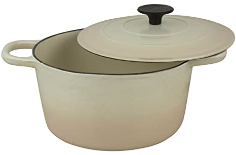 Crofton Professional Enameled Cast Iron 4 Liter Dutch Oven (Almond)