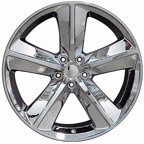 Partsynergy Replacement For Chrome Wheel Rim 20 Inch Fits 2008-2018 Dodge Challenger 5-115mm 5 Spokes Chrome 20x9