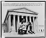 Photo: Mrs. Nettie Hunt,Supreme Court,African American Civil Rights,School Integration