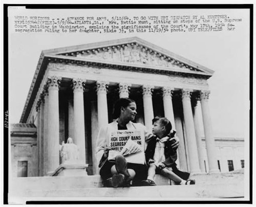 Photo: Mrs. Nettie Hunt,Supreme Court,African American Civil Rights,School Integration