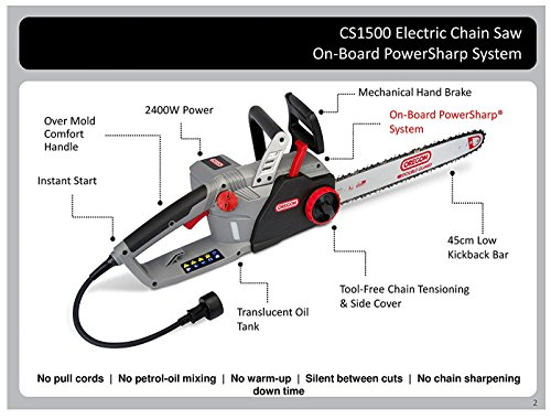 Oregon CS1500 Self-Sharpening Electric Chainsaw