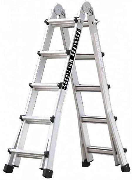 CODIVEN - Escalera Multiuso Alum. 5X5 10+10 Peldaños Master: Amazon.es: Bricolaje y herramientas