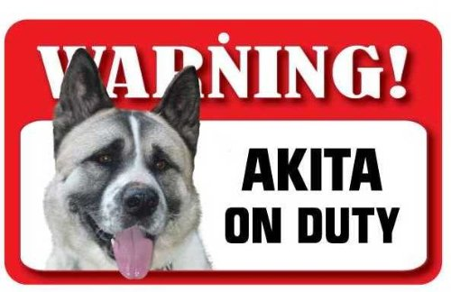 Akita Dog Pet Sign - Laminated Card Instant Gifts