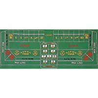 Trademark Poker Craps Layout 36-Inch x 72-Inch