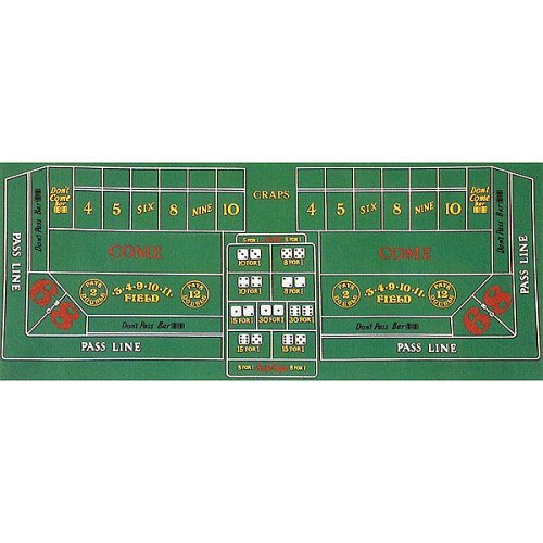 Trademark Poker Craps Layout 36-Inch x 72-Inch