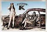 kendall jenner room Framed Jenneration K 24x36 Poster in Brushed Nickel Finish Wood Frame Kendall Jenner Kylie Jenner