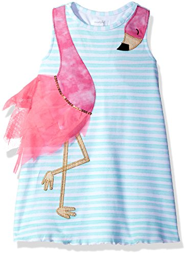 Mud Pie Baby Girls' Casual Playwear Sleeveless Sun Dress, Flamingo Stripe