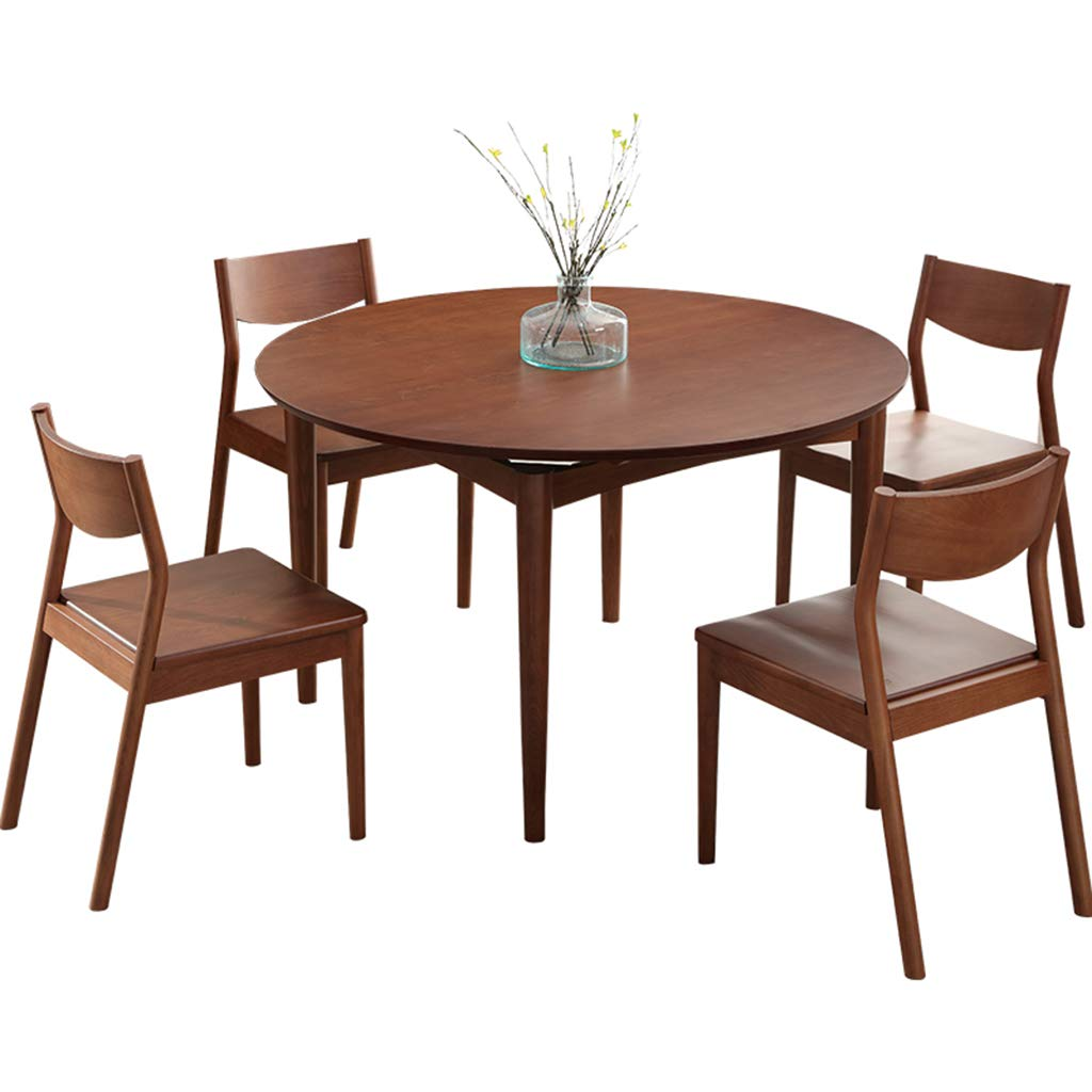 Table Round Pedestal Table 4-6 Seater Dining Table Set Office Negotiating Table (Color : Table+4 Chairs)