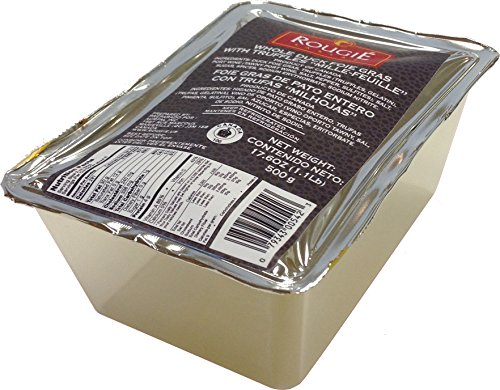 Rougie Whole Duck Foie Gras with Truffles, Millefeuille 17.6 Oz.
