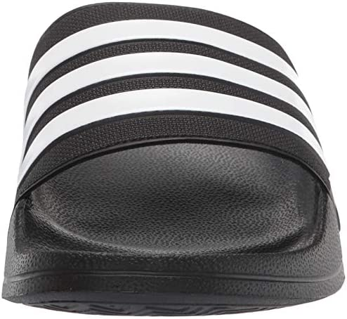 51fQ9%2BsMGeL. AC adidas Men's Adilette Shower Slides    Arsenal and adidas, together again. These swim slides show off the club's classic colours and crest. Slip them on in the locker room, on the beach or when you're running to the store. ImportedRubber soleShaft measures approximately low-top from archContoured-footbedEVA-outsole-for-lightweight-comfortSoft-Cloudfoam-footbed-for-quick-dry-comfortSingle-bandage-synthetic-upper-with-3-Stripes