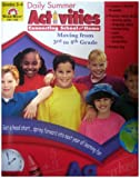 Daily Summer Activities, Moving from Third to Fourth Grade, Evan-Moor, 1557997683