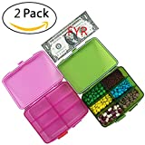 Best Pill Holder With Airtights - Pill organizer 6 Compartments Travel Portable, Pill Case Review