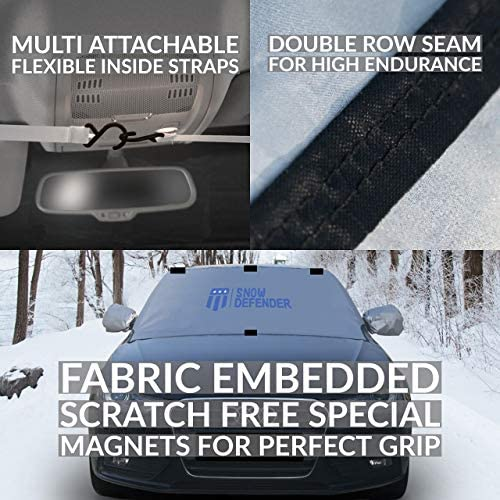 Skoda FABIA 00-07 WINDSCREEN FROST ICE SNOW PROTECTOR MIRRORS COVER CAR