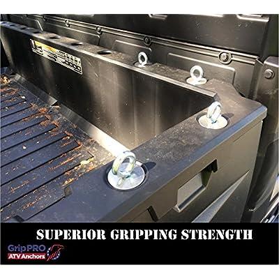 GripPRO ATV Anchors to fit Polaris Ranger Lock & Ride ATV Tie Down Anchors - Set of 6 Anchors: Automotive