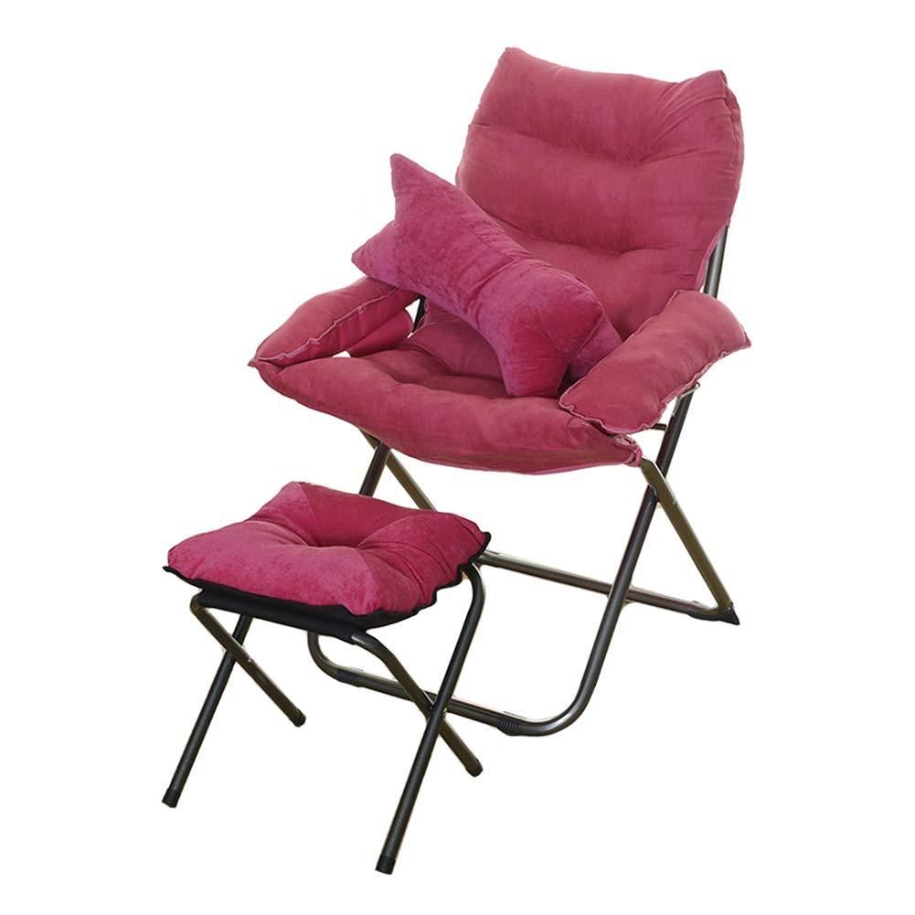 Chaise de Sol, Chaise Pliable à la Mode avec Repose-Pieds et Oreiller, Lits de canapé-lit Paresseux, pour Salon/Balcon / Chambre à Coucher (Couleur : Style 2)