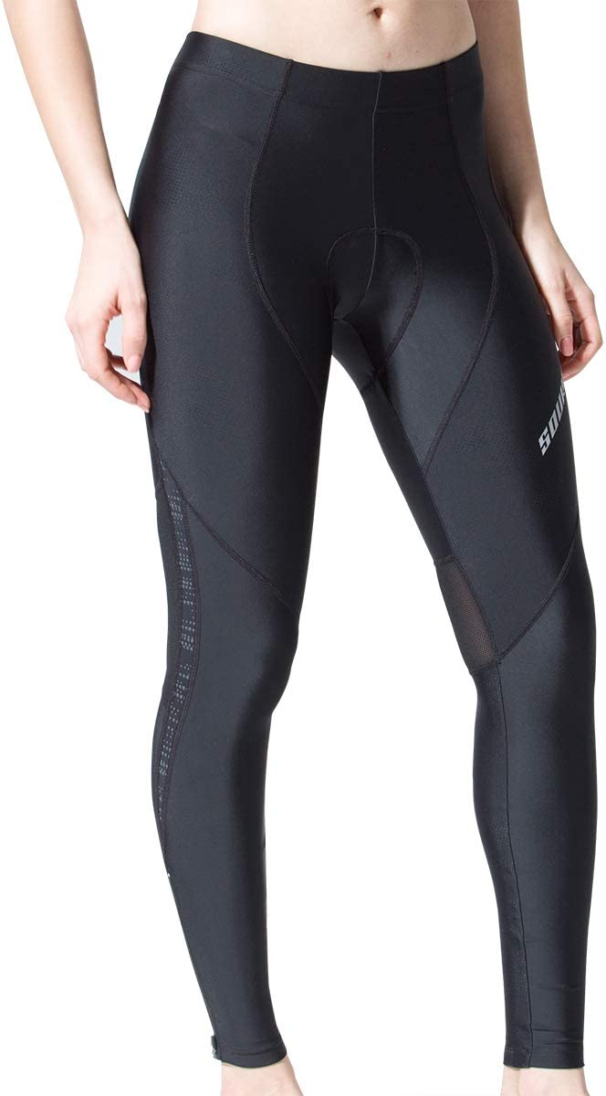Souke Sports Womens Cycling Pants 3D Padded Bike Bicycle Long Tights for Fall Spring