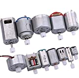 Yeeco DC Electric Micro Motor, 12 PCS Motor Engine Driver Set Centric Output Shaft with Gears for Technology Model DIY