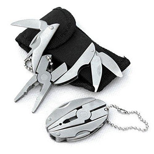 Pocket Multi Function Tools Set Mini Foldaway Keychain Pliers Knife Screwdriver - 9