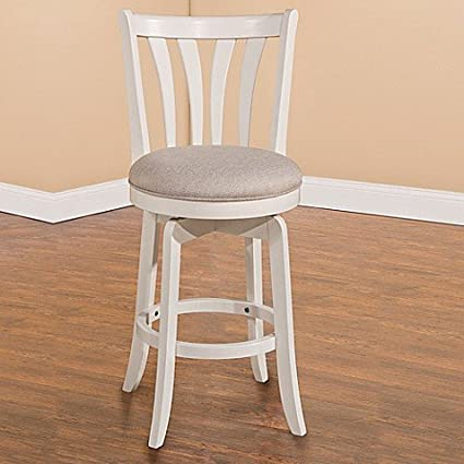Amazoncom Hillsdale Whitman 26 Inch Swivel Counter Stool In White