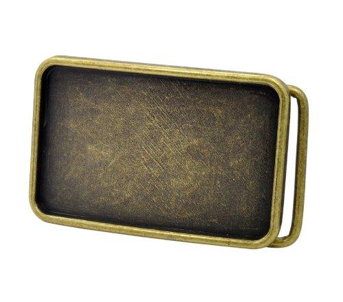 Buckle Men's Rectangle Custom Design Belt Buckle Small Bronze