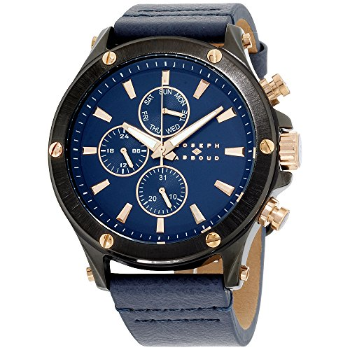 Joseph Abboud Navy Dial leather Strap Men's Watch JA3204BK648-709
