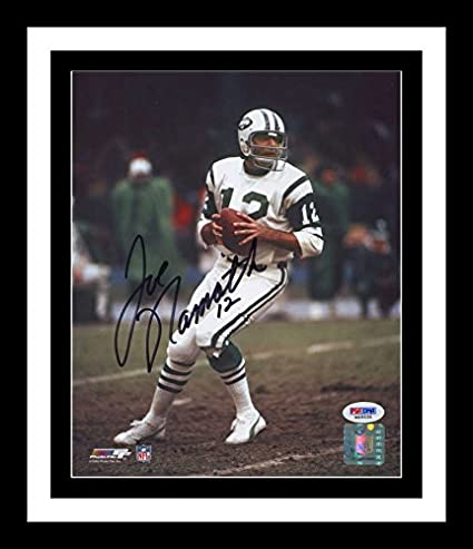 bf0b7b831 Image Unavailable. Image not available for. Color  Joe Namath Signed ...