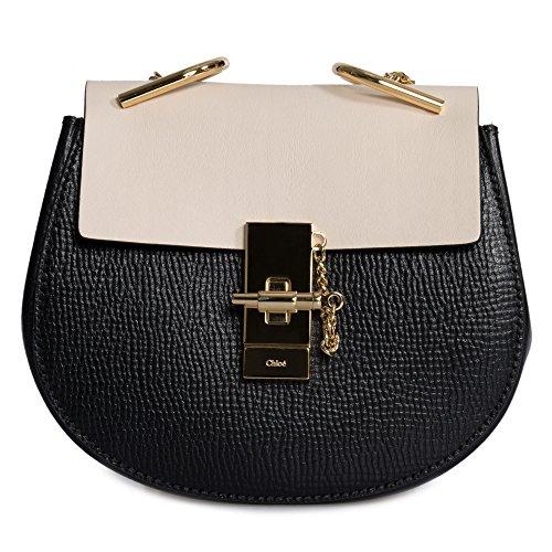 Chloe Mini Drew Bag In Small Grain & Smooth Calfskin Leather Chloe Calfskin Leather