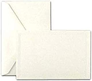 product image for Crane & Co. Pearl White Triple Debossed Panel Cards & Envelopes (CC3191)