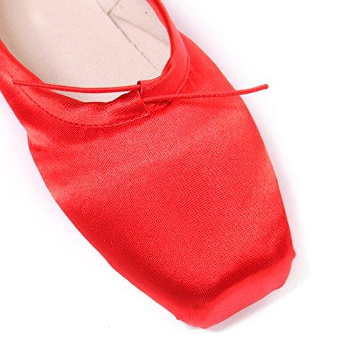 DoGeek Spitzenschuhe Ballet für Damen/Mädchen mit Spitzenschuhe Schooner Professionell Ballettschuhe mit spitzenschuh Unsichtbares Band Größen 28-43(Wählen Sie 1-2 Größere Größe