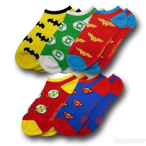 DC Comics Superhero Logos Ankle Socks (5 pairs)