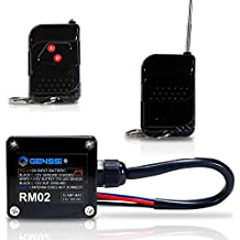 GENSSI High Power 15A Wireless Remote Controller Transmitter On Off Switch for Car Truck Marine Boat RV