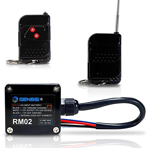 Genssi High Power 15A Wireless Remote Controller Transmitter On Off Switch for Car Truck Marine Boat RV ()