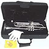 YMC Trumpet New Concert Band Real Silver plated Trumpet with Case
