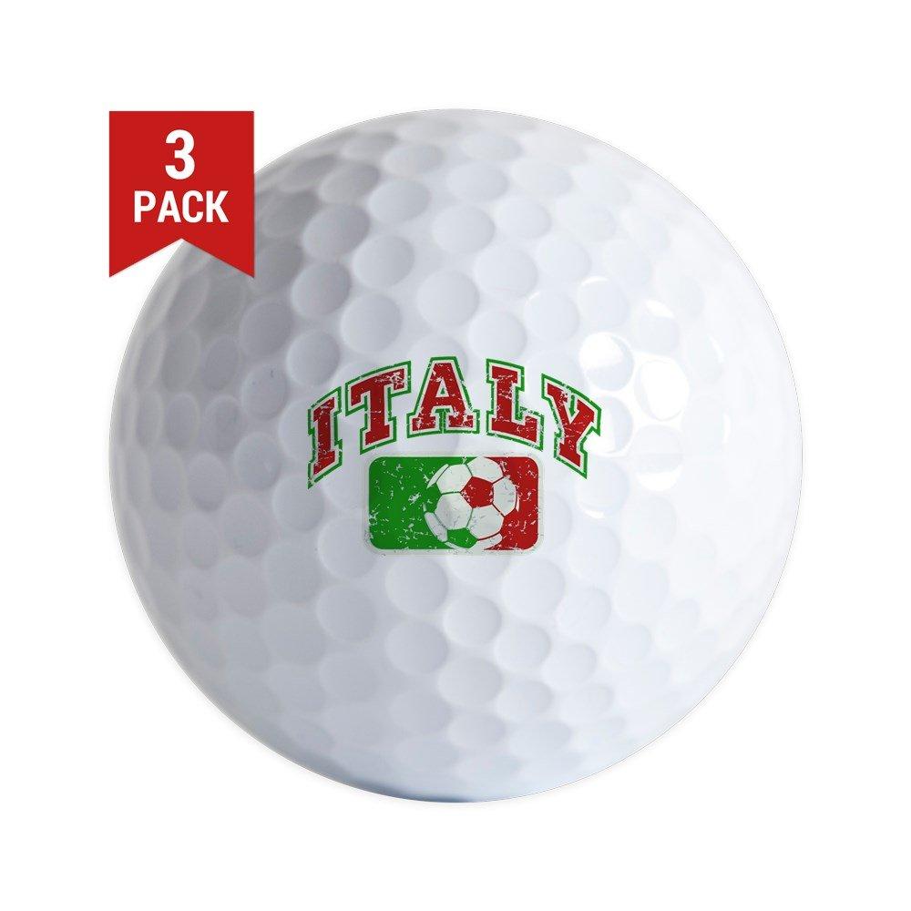 Golf Balls (Set of 3) Italy Soccer Grunge Italian Flag
