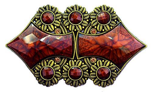 Moranse Natural Bloodstone Gemstone and Celtic Indian Totem Style Western Cowboy Design Belt Buckles