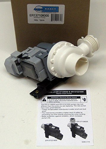 Major Appliances 137108000 replacement Frigidaire Washer Washing Drain Pump AP4359940 PS2342445