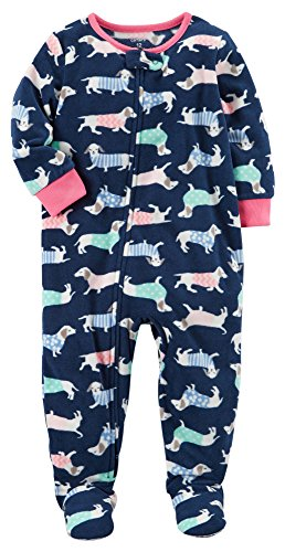 Carter's Girls' 12M-12 Dog Fleece Pajamas Blue 18 Months ()