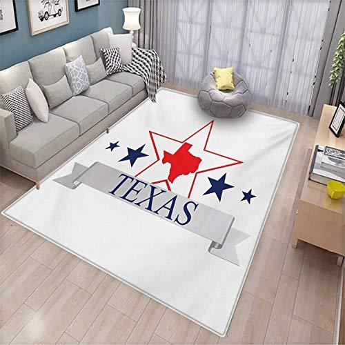 Texas Star Door Mats for Inside San Antonio Dallas Houston Austin Map with Stars Pattern USA Bath Mat for tub Bathroom Mat 4