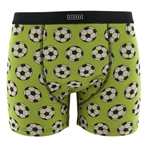 Kickee Pants Print Men's Boxer Brief, Meadow Soccer, (Print Soccer Boxers)