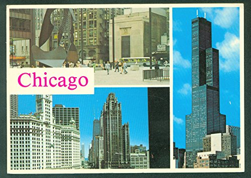 CHICAGO ILLINOIS Windy City Picasso SEARS TOWER Magnificent Mile Postcard Magnificent Mile Chicago