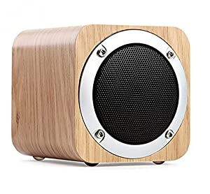 Bluetooth Speaker,Powpro PowBlu Pow-011 Portable Wooden Wireless Bluetooth 4.0 Speaker with Mic & TF Card Slot from Powpro