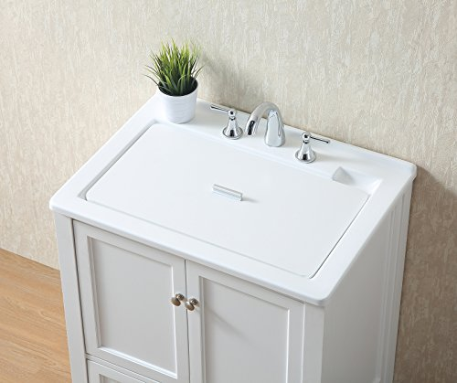 Stufurhome GM-Y01W 30.5-Inch Pure White Single Laundry Sink by Stufurhome (Image #13)